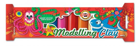 Modelína 10 barev 200g