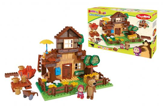 PlayBIG Bloxx Máša a medvěd: Stavebnice Míšův dům