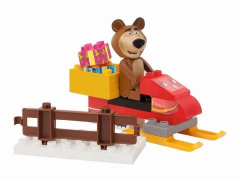 PlayBIG BLOXX Máša a medvěd Míša se skútrem