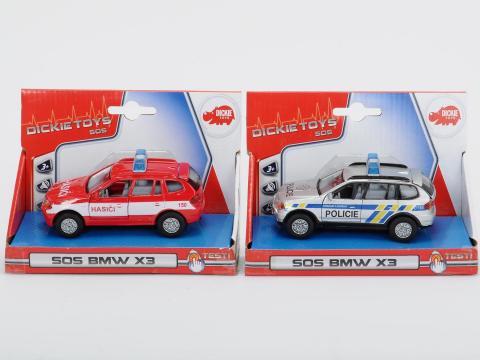 Auto Policie/Hasiči kovové, česká verze