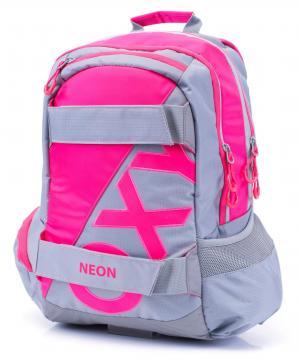Studentský batoh OXY Sport NEON LINE Pink + dárek zdarma
