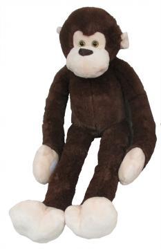 Plyšová opice, tmavě hnědá