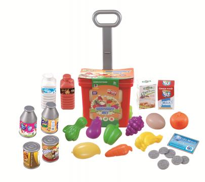 MAC TOYS Nákupní košík s potravinami