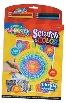Colorino Omalovánky Scratch & Color, 12 obrázků