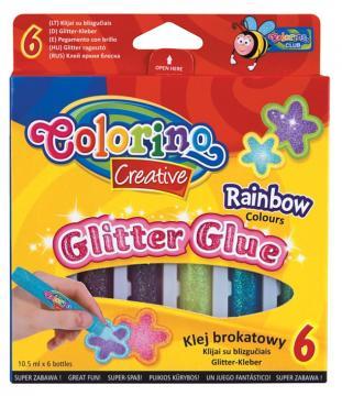 Colorino Lepidlo s kovovými třpytkami, 6 barev