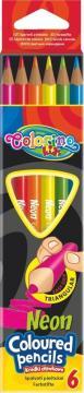 Colorino Trojhranné pastelky 6 neonových barev