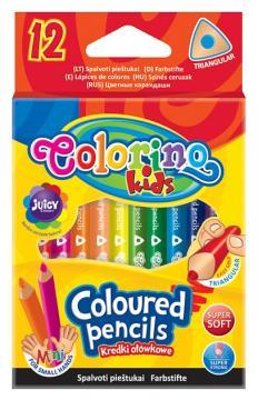 Colorino Pastelky 12 ks, krátké trojhranné