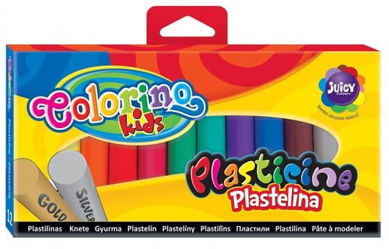 Colorino Modelína 12 barev se zlatou a stříbrnou