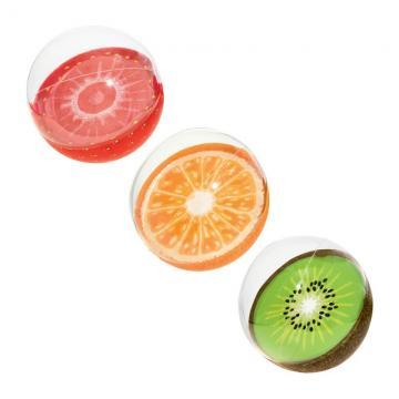 Nafukovací míč - mix (jahoda, kiwi, pomeranč) 46cm