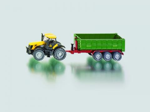 SIKU Farmer - Traktor JCB Fasttrac 8250 s kontejnerovým přívěsem