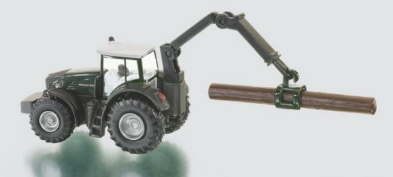 SIKU Farmer - traktor s lesním přívěsem