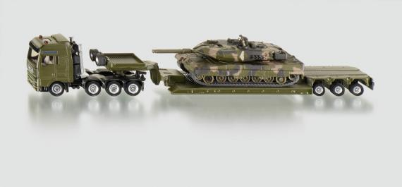 Siku Těžký transportér přepravující tank, 1:87
