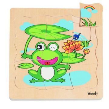 Woody Puzzle na desce Vývoj žáby