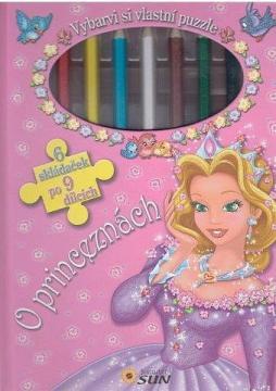 Vybarvi si vlastní puzzle: O princeznách