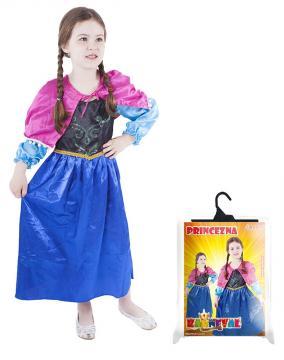 Karnevalový kostým princezna Zimní království, velikost M