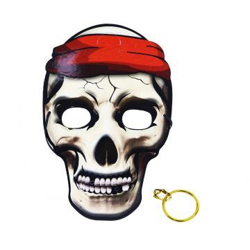 Maska pirátská s náušnicemi, 3 ks v sáčku