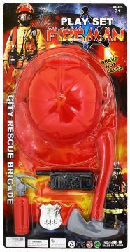 Sada hasičská s přilbou