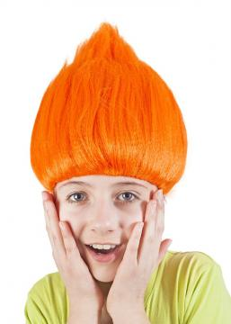 Paruka skřítek, oranžová