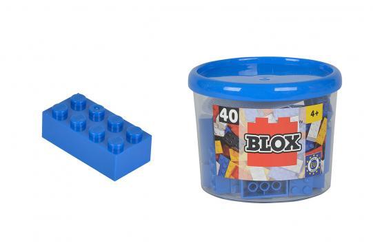 Blox 40 Kostičky modré v boxu
