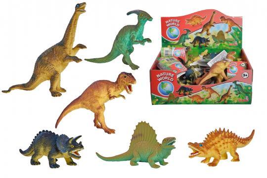 Gumový dinosaurus 11-14cm, 6 druhů,