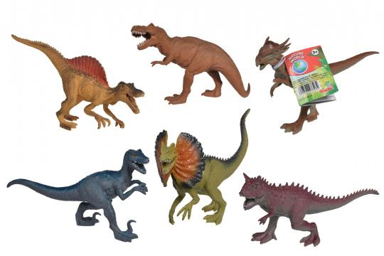 Gumový dinosaurus 17-22cm, 6 druhů