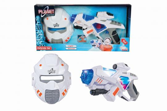 Planet Fighter Sada pistole a maska
