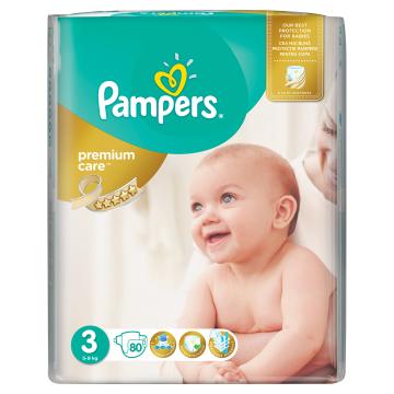 Pampers Premium Care Vel. 3, 80 ks