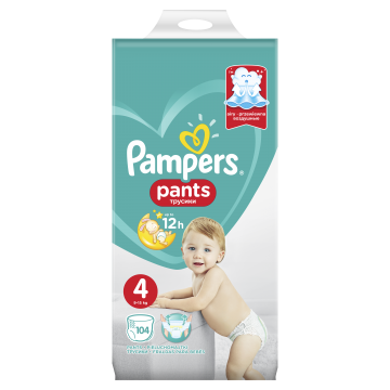 Pampers Pants Vel. 4, 104 Plenek