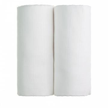 Látkové TETRA osušky 100 x 90, sada 2 ks, 2x bílá