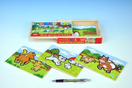 Puzzle dřevěné Moje první zvířátka