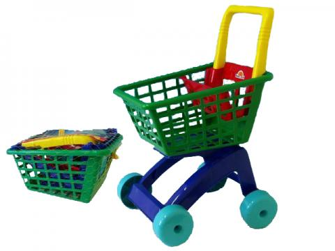 Nákupní vozík plast 31x59x40cm