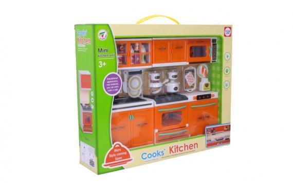 Kuchyňka set 34 x 27 cm, na baterie -  3 x knoflíková, světelné a zvukové efekty