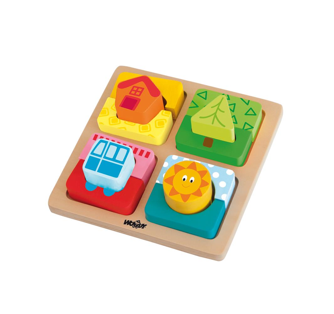 Destička s puzzle-tvary ´´Slunce domova´´