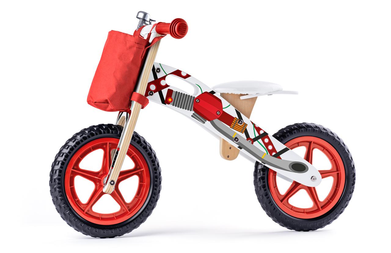 Odrážedlo motorka, červená