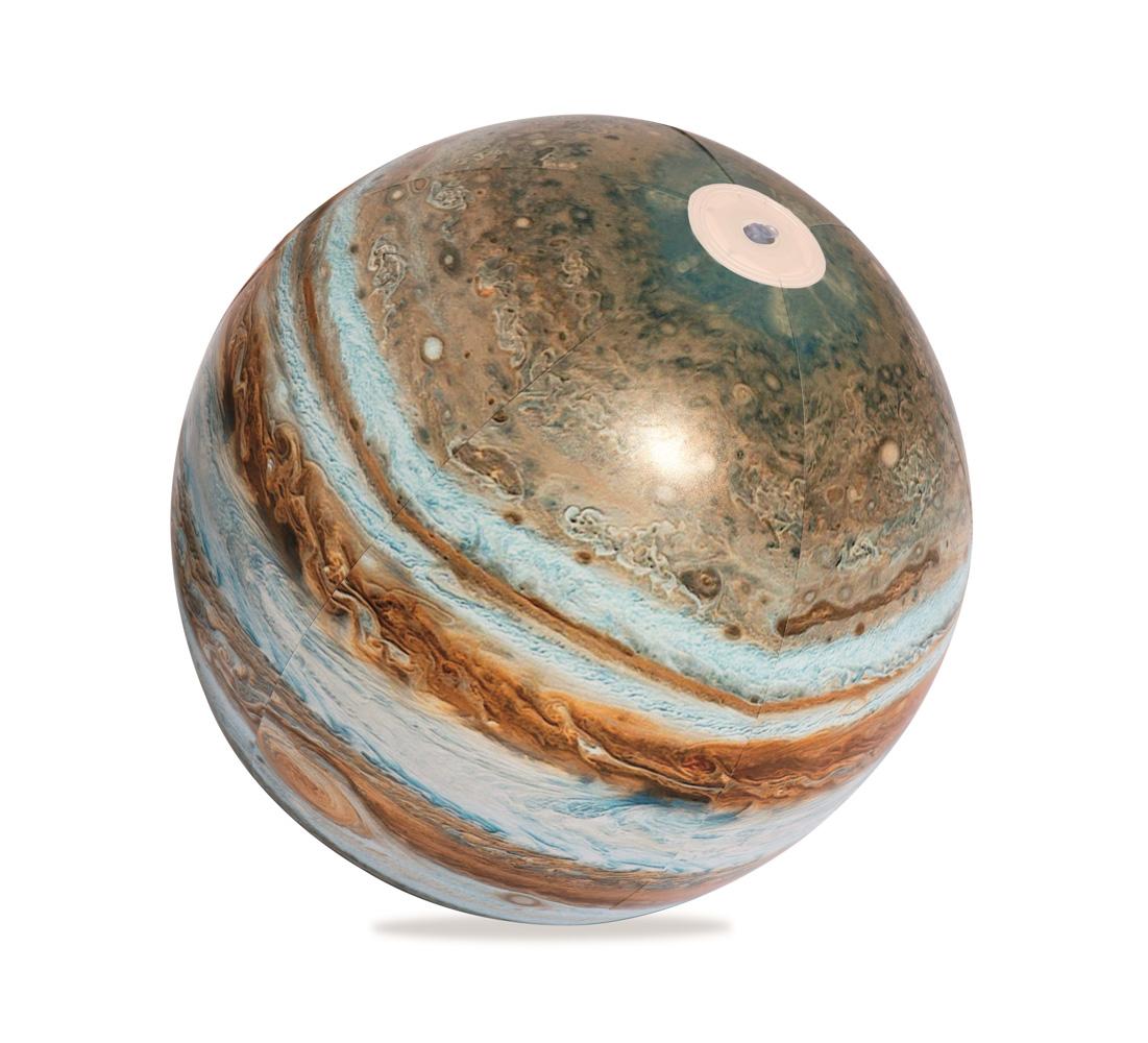 Nafukovací zářící míč, 61cm