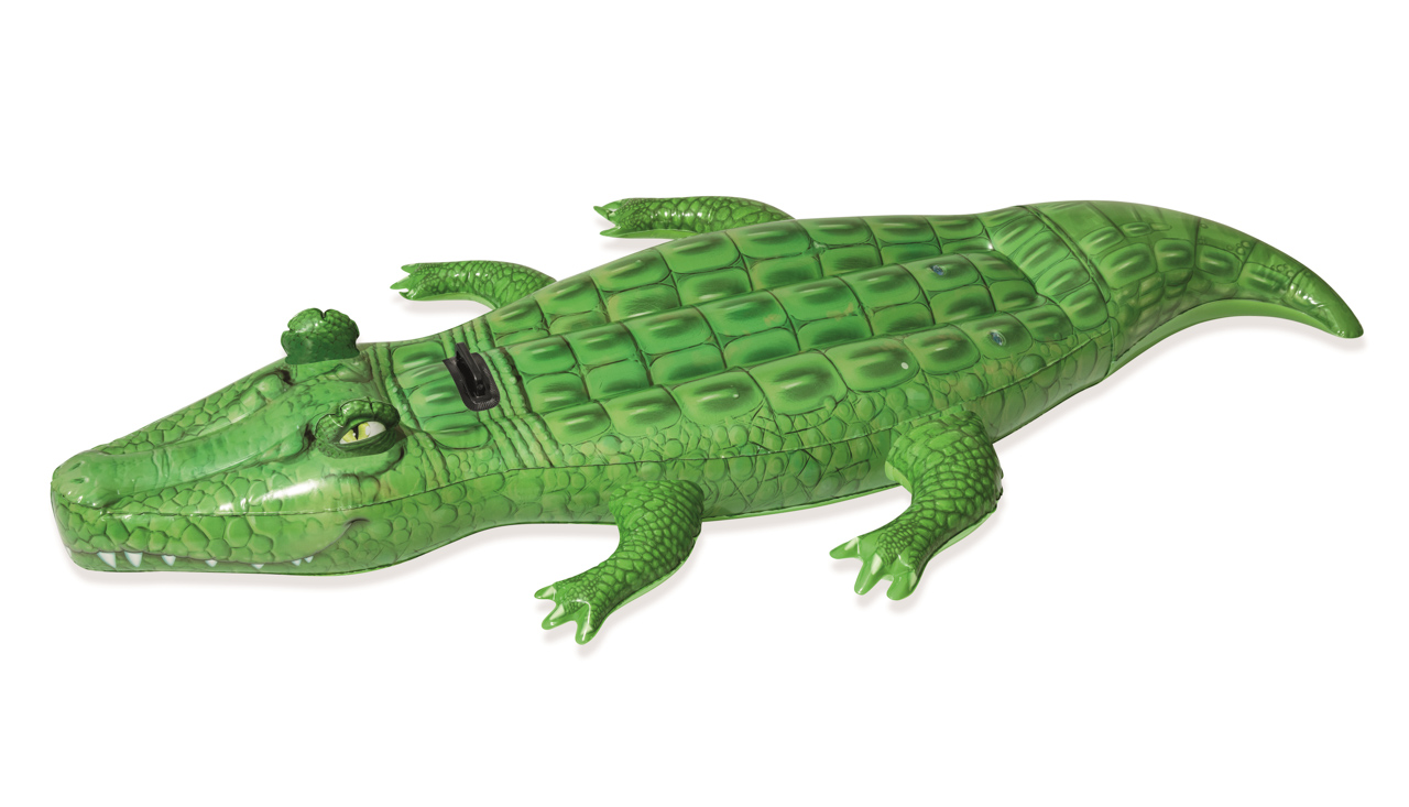 Nafukovací krokodýl s držadlem, 203x117 cm