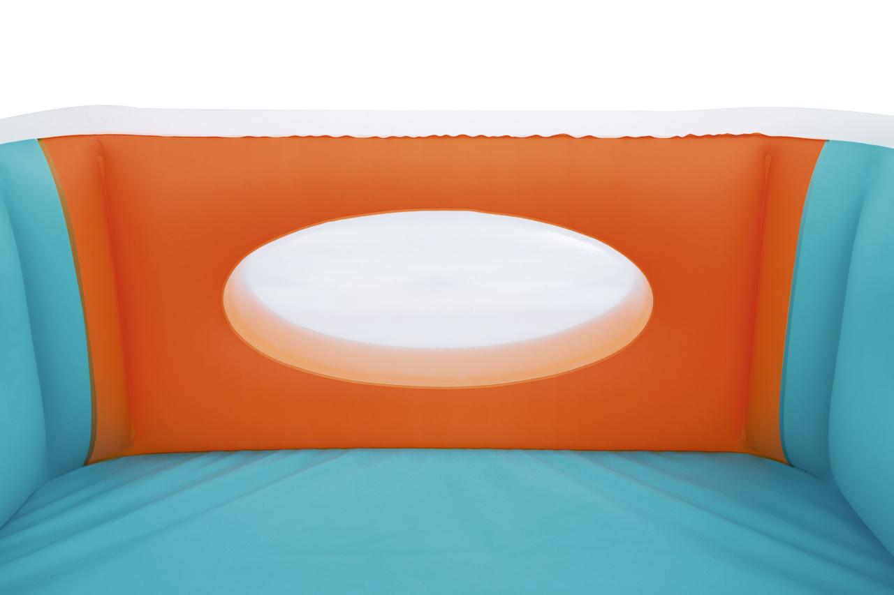 Nafukovací bazén s okénky, 1,68m x 1,68m x 56cm