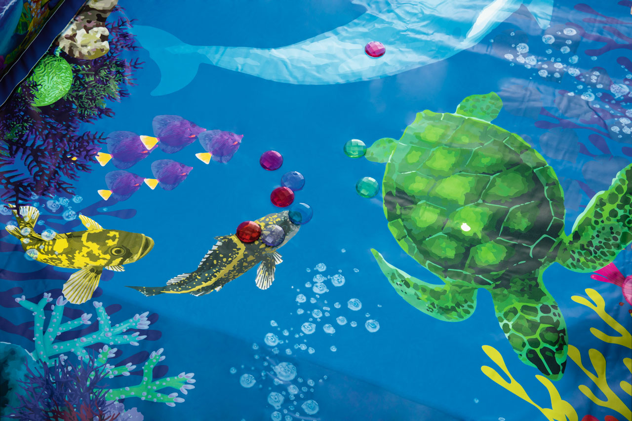 Nafukovací bazének 3D, 2,62m x 1,75m x 51cm