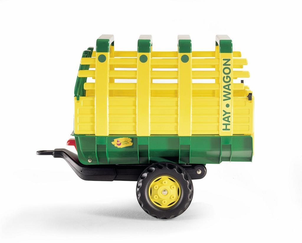 Vlečka na seno za traktor 1osá ´´Hay Wagon´´- zelenožlutá