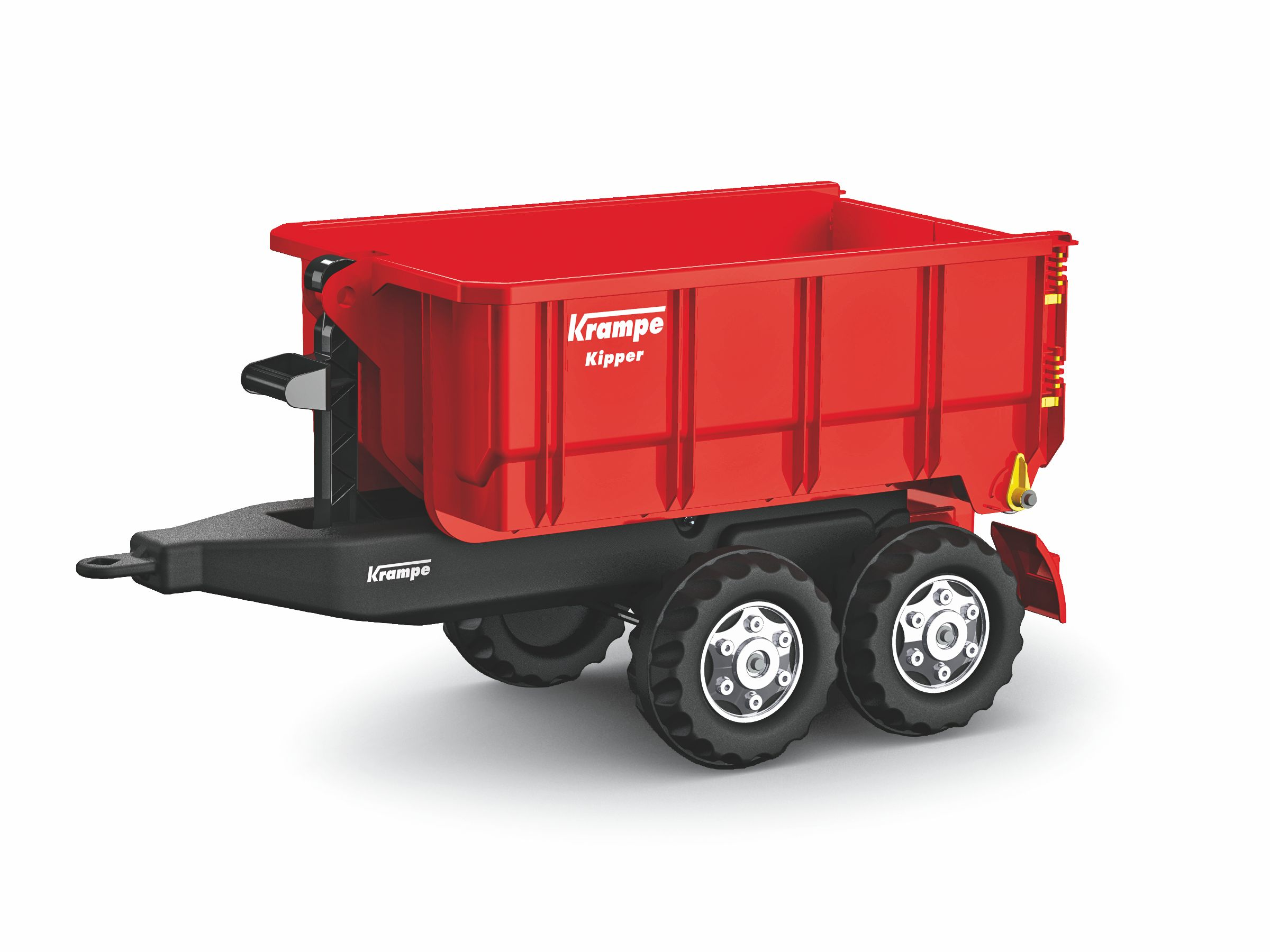 Vlečka za traktor Krampe červená