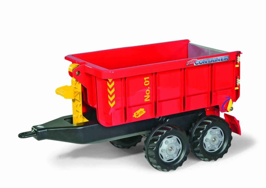 Vlečka za traktor vyklápěcí červená