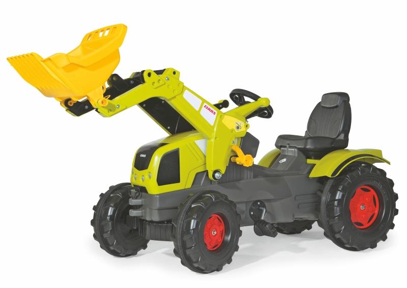 Šlapací traktor Farmtrac Claas Axos s předním nakladačem