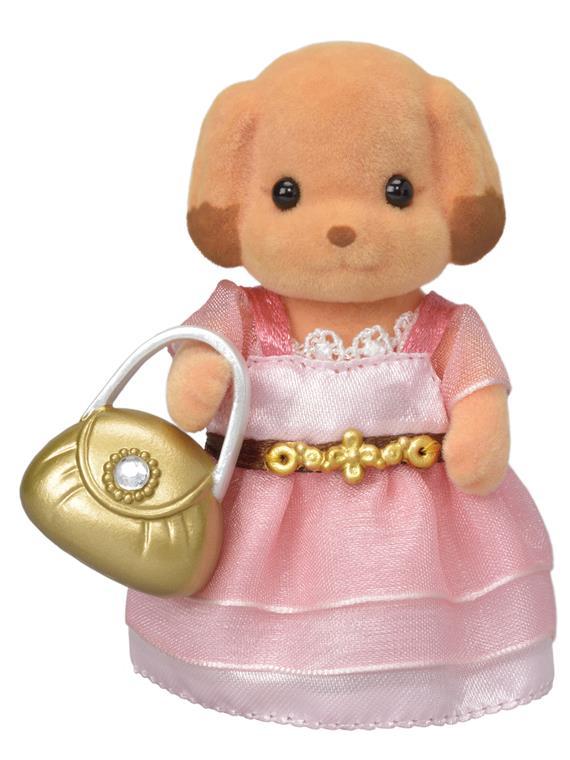 Město - pudlík v růžových šatech s kabelkou