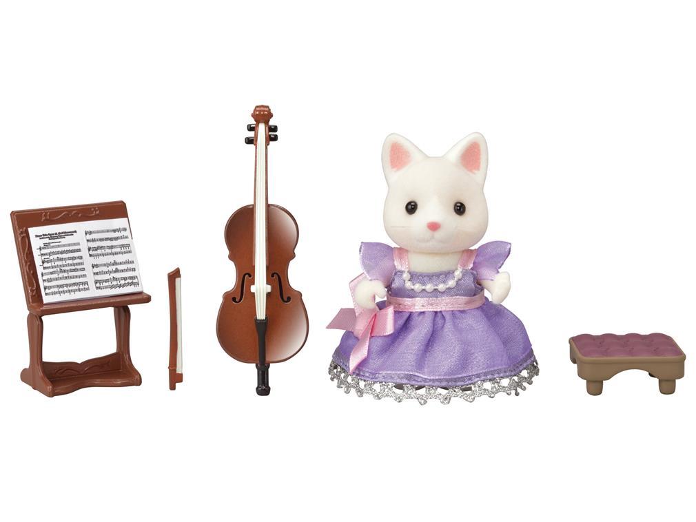 Město - violoncellistka hedvábná kočička