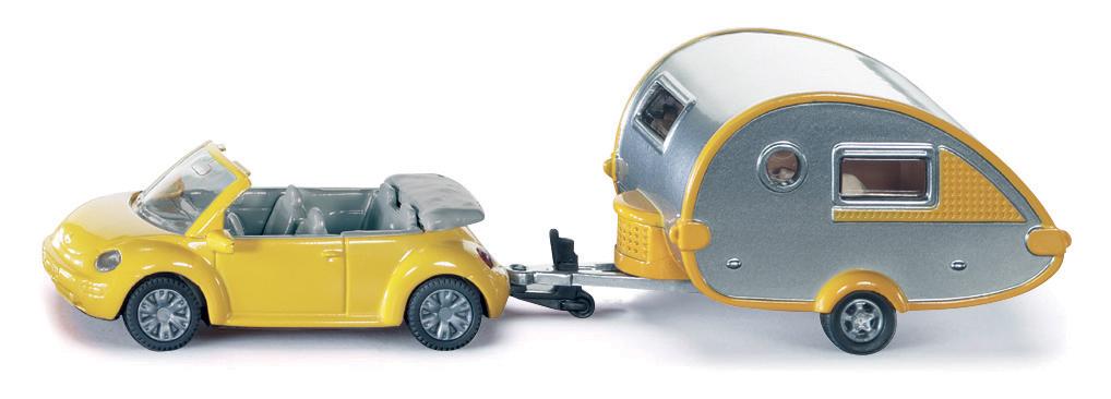 SIKU Blister - osobní automobil s obytným přívěsem