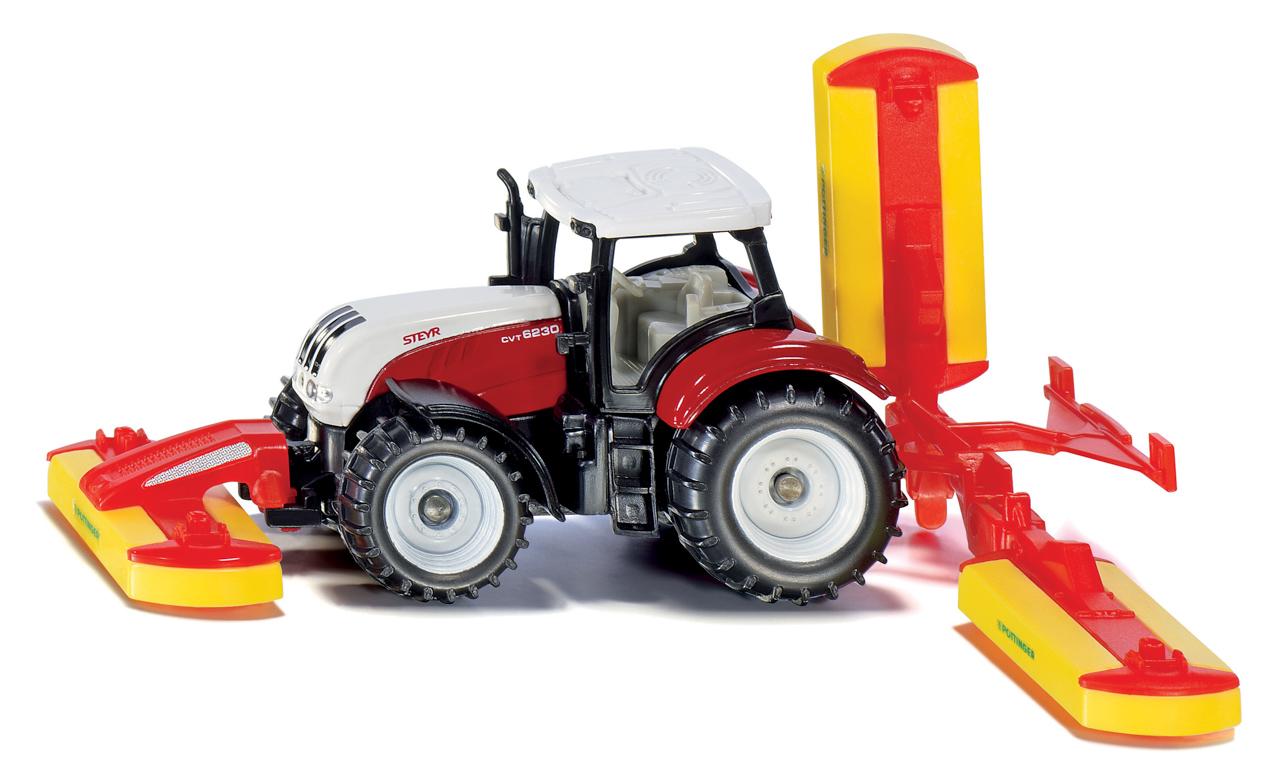 SIKU Blister - traktor Steyr se sekacími nástavci