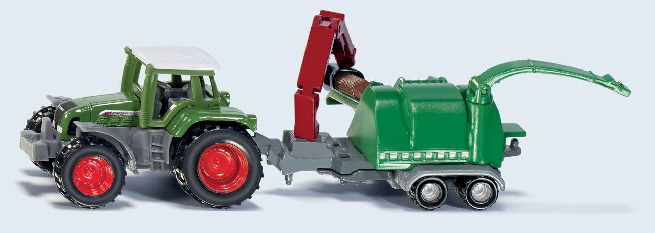 SIKU Blister - Traktor se štěpkovačem