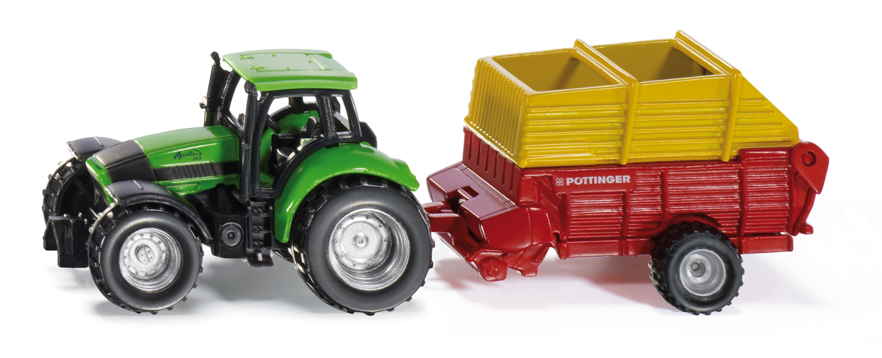 SIKU Blister - Traktor s vlekem