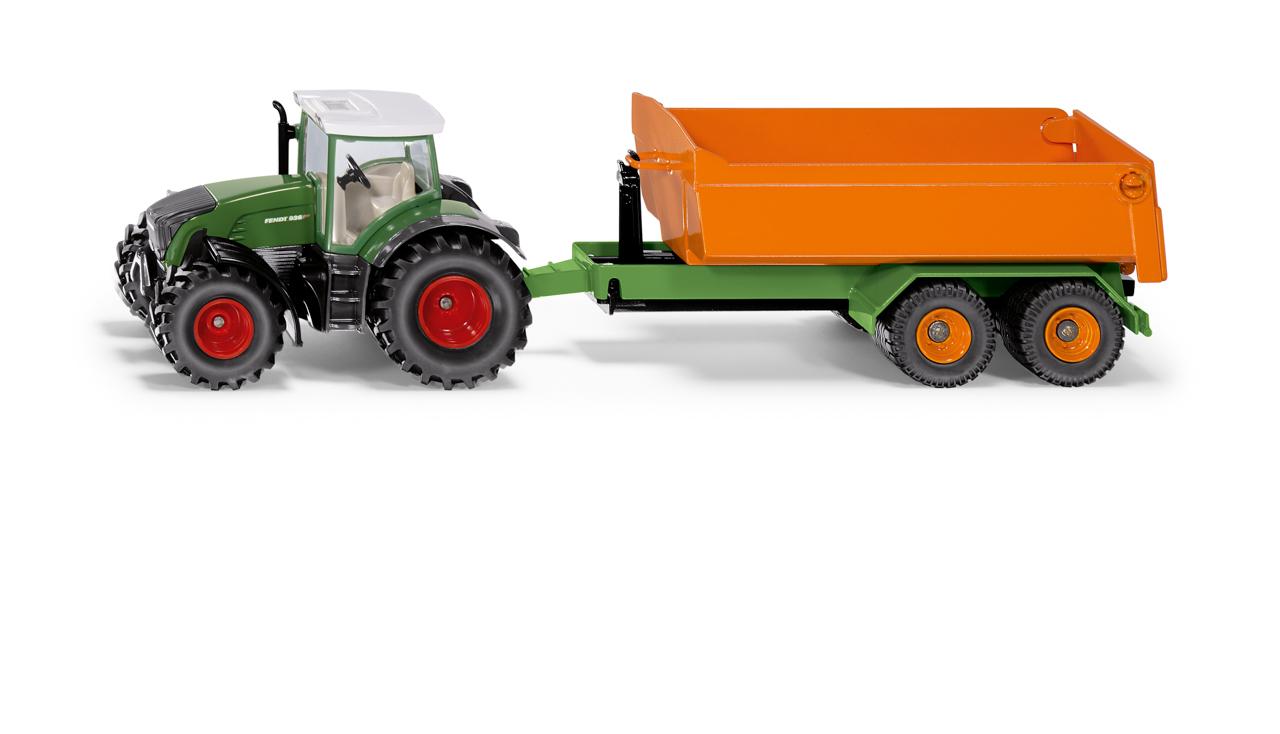 SIKU Farmer - traktor Fendt s vyklápěcím přívěsem, 1:50