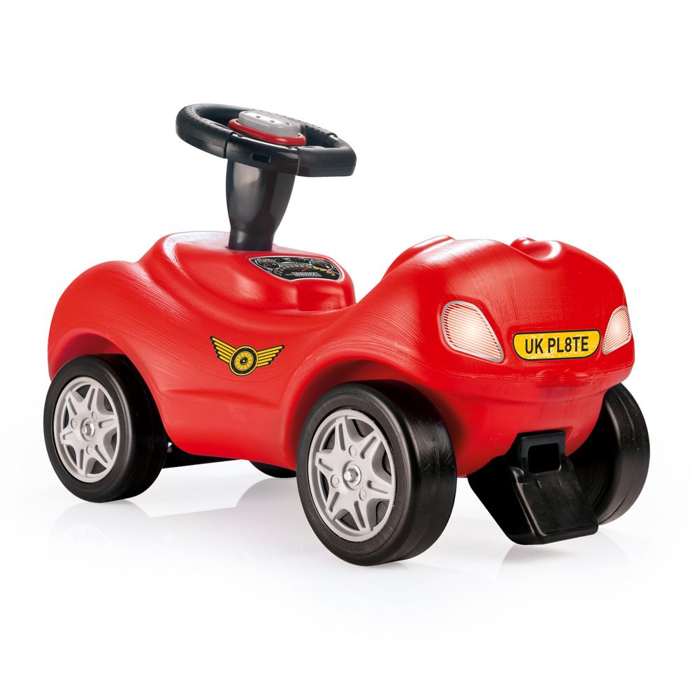 Odrážedlo závodní auto, červené